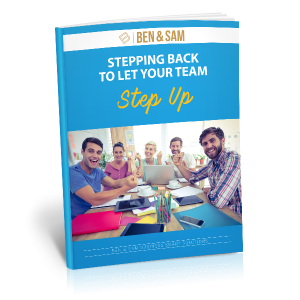 Stepping Back to Let your Team Step Up
