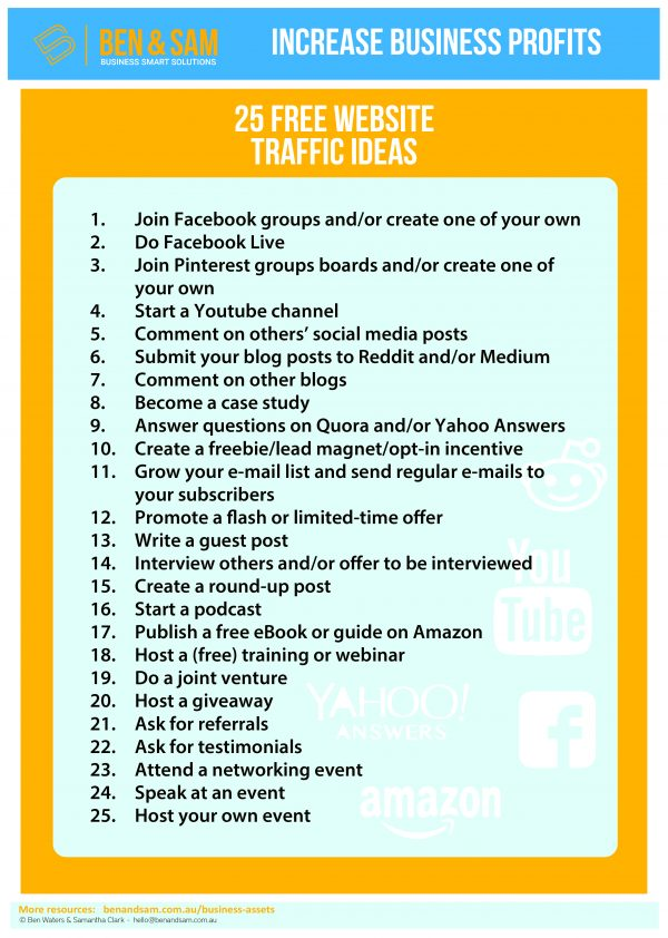 25-free-website-traffic-ideas