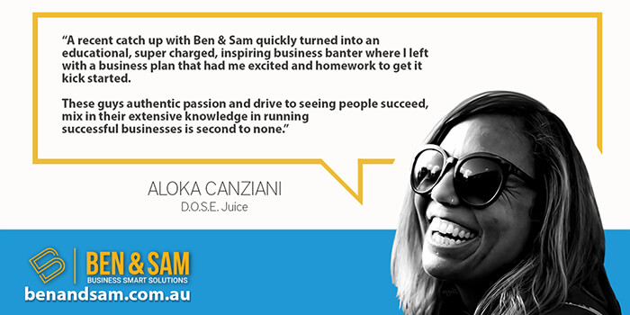 Aloka Canziani Recommends Ben & Sam for business coaching
