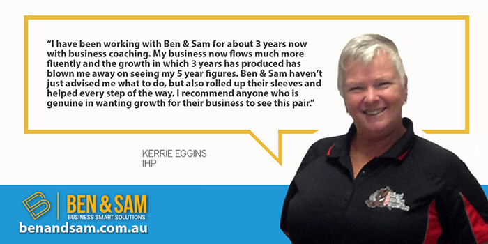 Kerrie Eggins Recommends Ben & Sam for Business Coaching