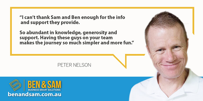Peter Nelson Recommends Ben & Sam for Business Coaching