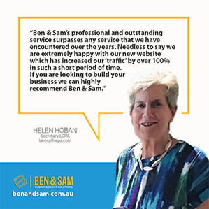 Helen Hoban website testimonial