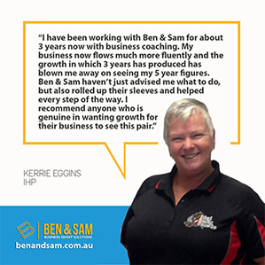 Kerrie Eggins business coaching testimonial