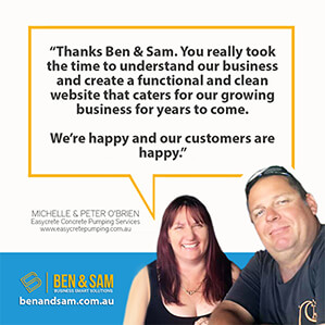 Michelle Peter O'Brien website testimonial