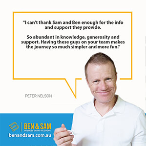 Peter Nelson Business Coaching Testimonial