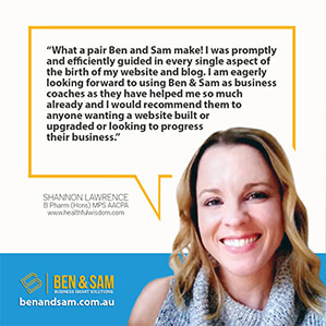 Shannon Lawrence business coaching testimonial